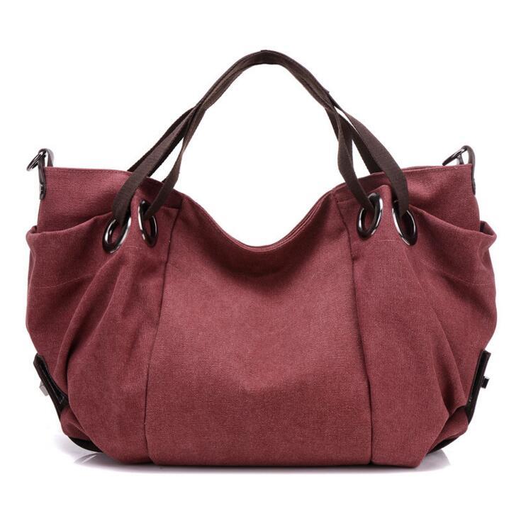ФОТО Women Canvas Handbags Big Hobo Shoulder Bag Ladies High Quality Travel Messenger Bag Crossbody Bag For Women Bolsa Feminina