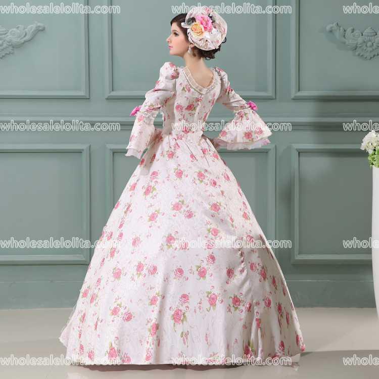 Top Sale 17 Century Pink Marie Antoinette Floor lenght Party Wear ...