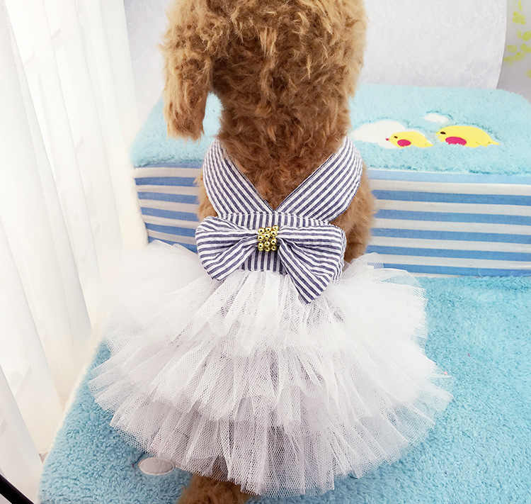 애완 동물 강아지 여름 드레스 스트 라이프 테디 베어 드레스 스커트 드레스 봄 여름 착용 신선한 레이어 케이크 드레스 개 치와와
