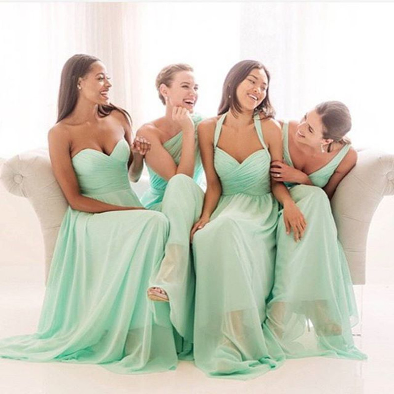 Buy glamorous 2015 mint bridesmaid for Mint color wedding dress