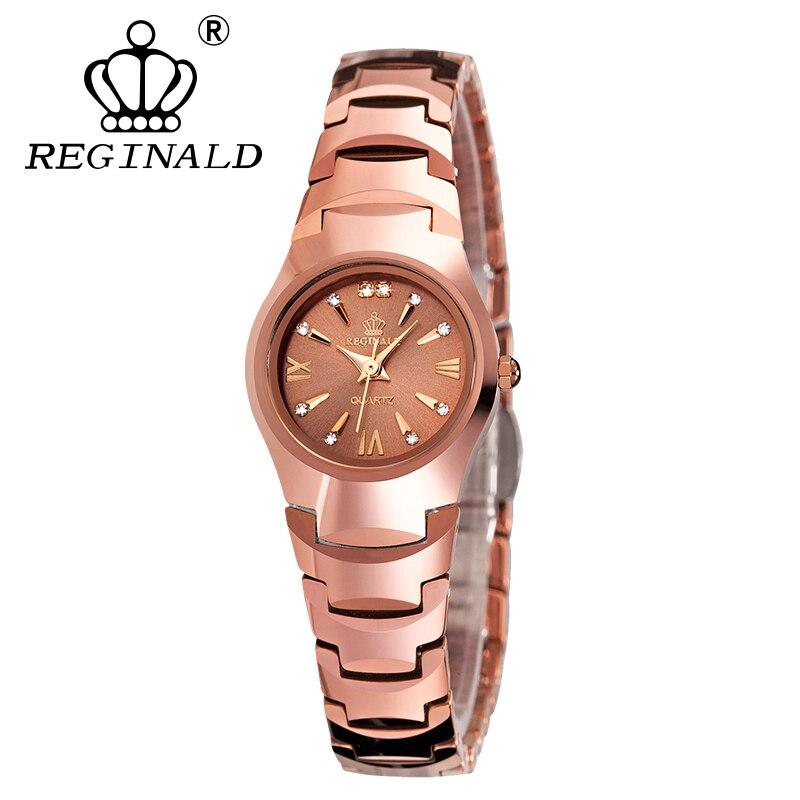 Fashion Reginald Brand Casual Watch Top Quartz Watches Waterproof Luminous Small Dial Full Steel Luxury Girl Gift WristWatches