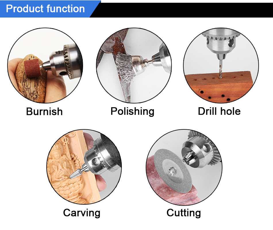 TUNGFULL Electric Drill Rotary Tool Accessories Household Hardware Tools Drilling Machine Dremel Mini Drill Variable Speed Pakistan