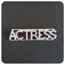 """""""Actress"""" Occupation Crystal Letters Womens Brooch"""