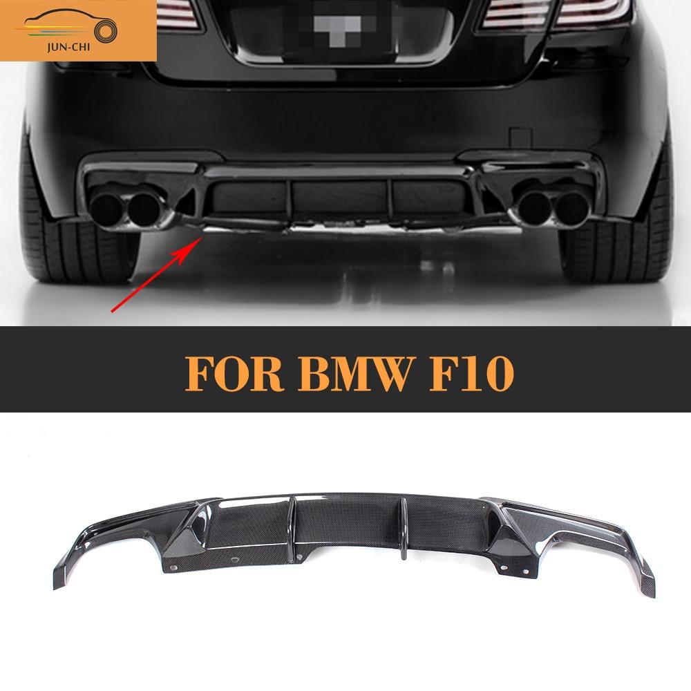 5 Series carbon fiber car rear bumper lip spoiler diffuser for BMW F10 M Sport Sedan 2012 2016 528i 530i 535i 550i
