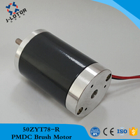 50ZYT78 R 12v 24v 2000rpm~6000rpm 50mm Permanent Magnet Brush DC Electric Motor with the Positive inversion and 100% Copper coil
