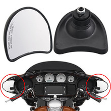 Motorcycle Black Batwing Fairing Mount Mirrors Side Rearview For Harley Electra Street Tri Glide 1996-2013