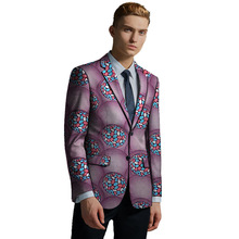 Formal mens blazers print suit jacket business blazer wedding/party design dashiki male African clothing