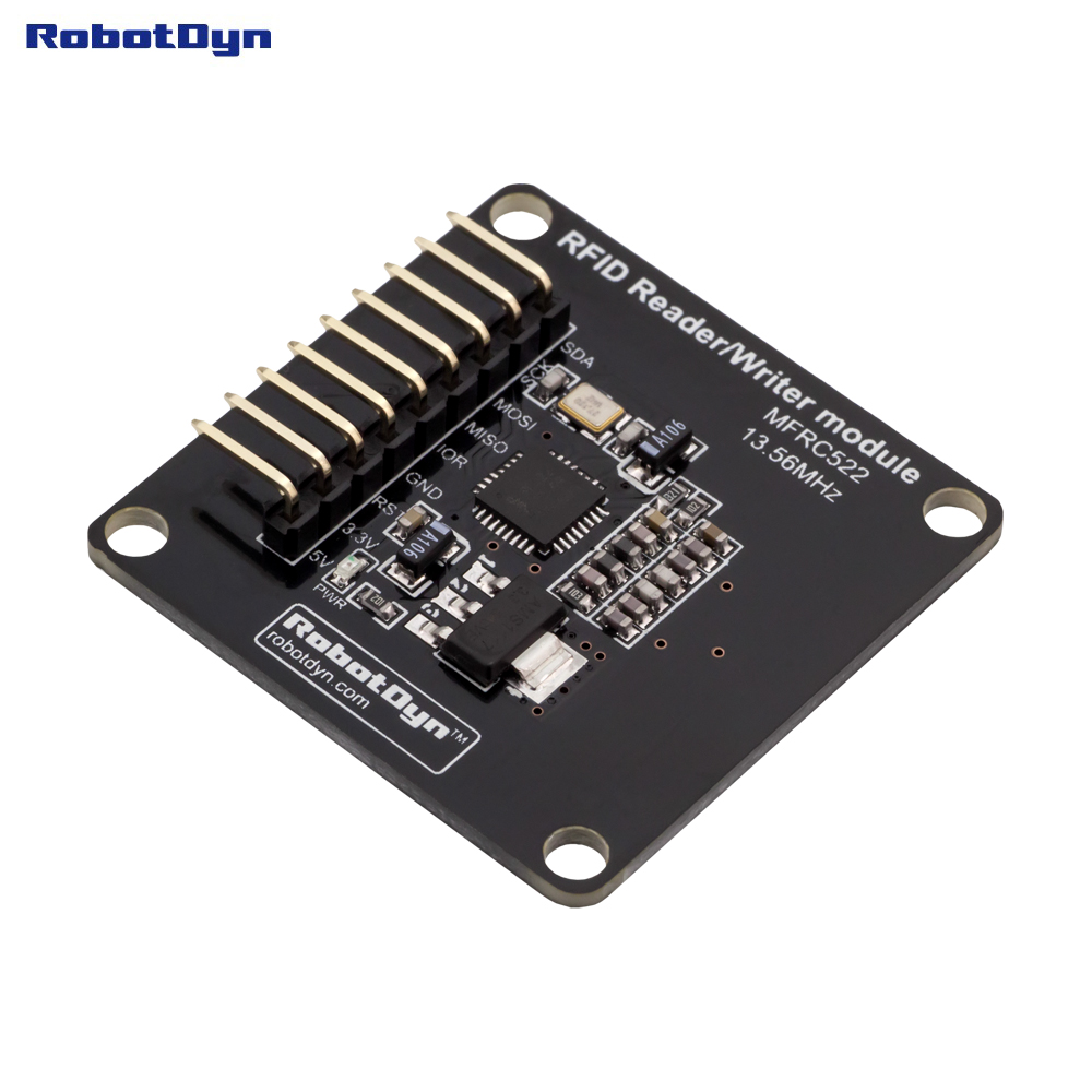 mfrc522 russian description - Compact RFID Reader/Writer and NFC module, MFRC522(13.56MHz). Power 5V/3.3V. For Arduino, Raspberry, ARM STM.