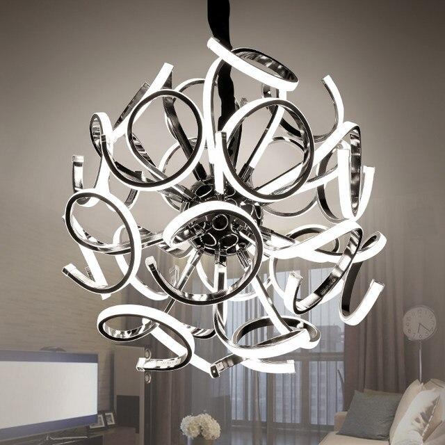 Z Post Moderne Goldene Led Pendelleuchte Luxus Villa Lampen Originalität  Restaurant Wohnzimmer Hängen Lampen Kugel Leuchte