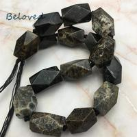 Faceted Chrysanthemum Agates Stone Nugget Loose Beads, Row Coral Jades Quartz Gems Jewelry Making Beads, BG18239