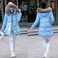 Maternidad abrigo de invierno sueltan de largo abajo chaqueta de algodón acolchado para embarazada embarazo las mujeres con capucha espesar prendas de abrigo