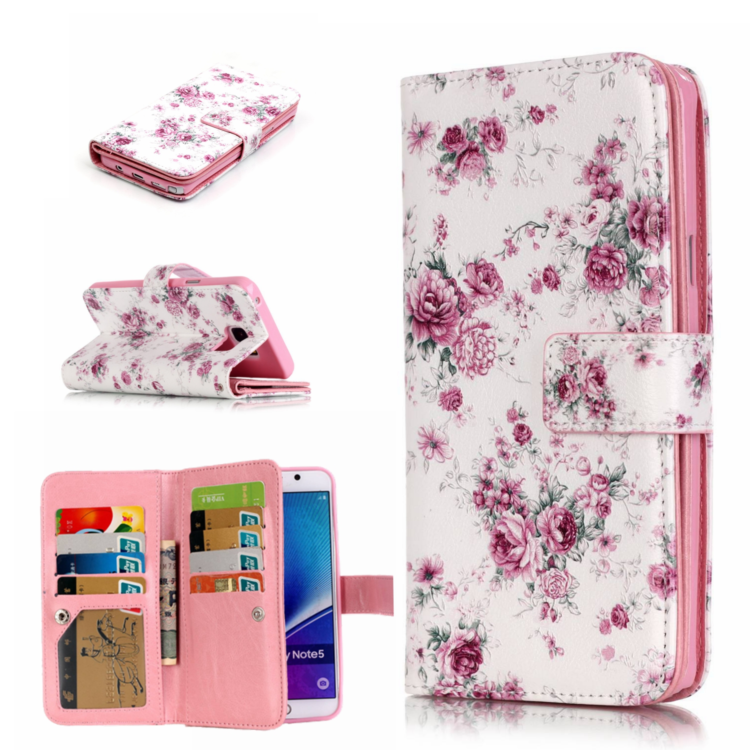 9 Card Holder Wallet Case For Samsung Galaxy S3 I9300 Luxury PU Leather Flip Phone Cases