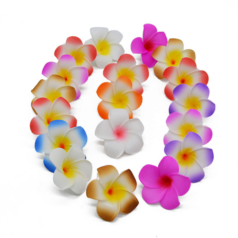 10Pcs 5-9CM Plumeria Hawaiian PE Foam Frangipani Artificial Fake Egg Flowers for Wedding Home Decoration Party Supplies 75z