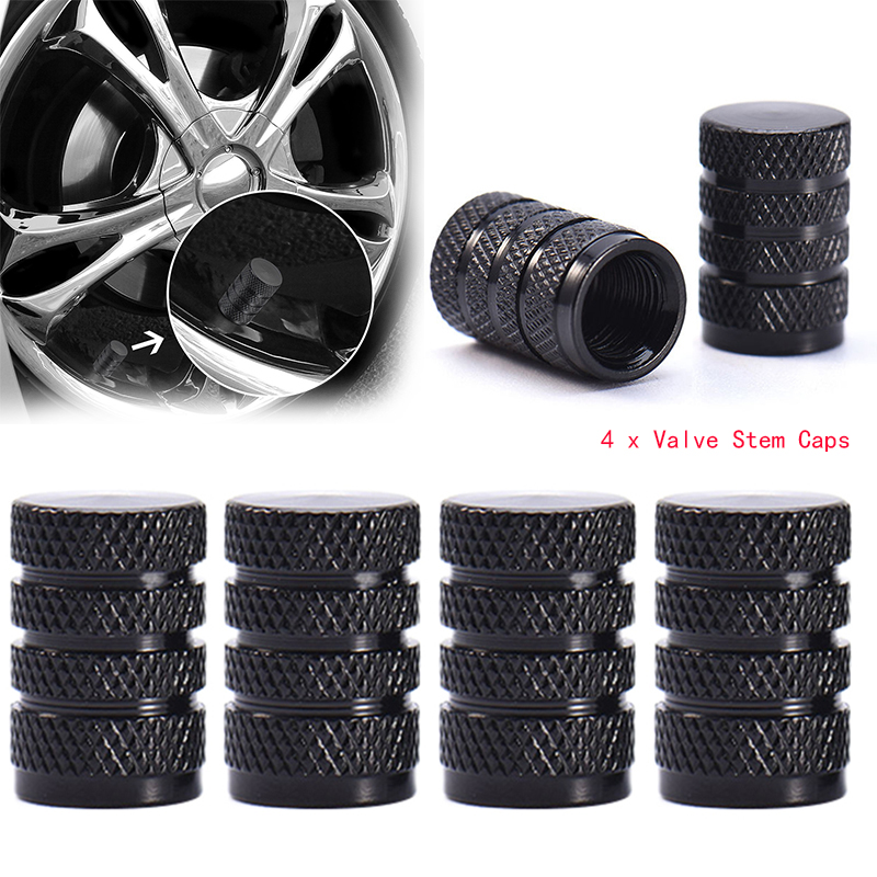 4PCs Durable Dust Cover Tire Wheel Rims Stem Air Valve Caps Aluminum Alloy