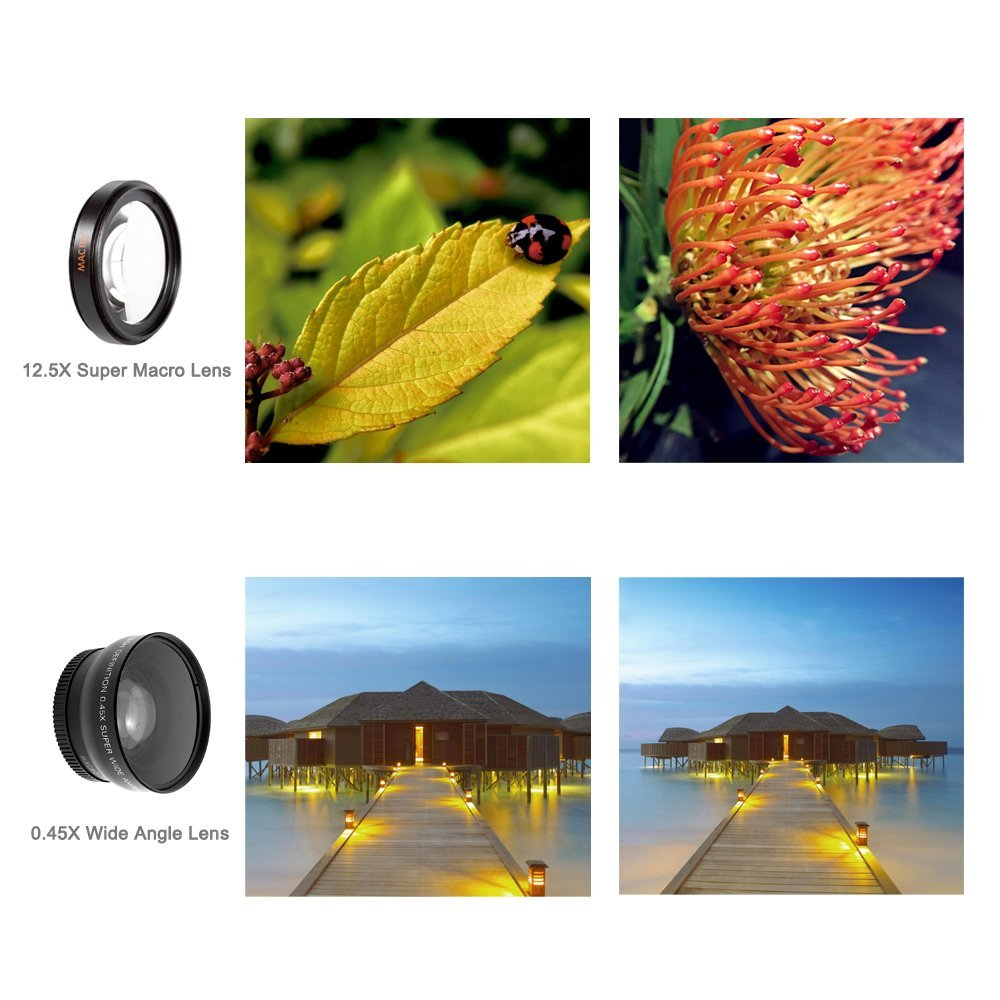 Universal Professional HD Camera Lens 0.45x Super Wide Angle Lens + Macro Lens for iPhone for huawei FOR Samsung Mobile Phone 12