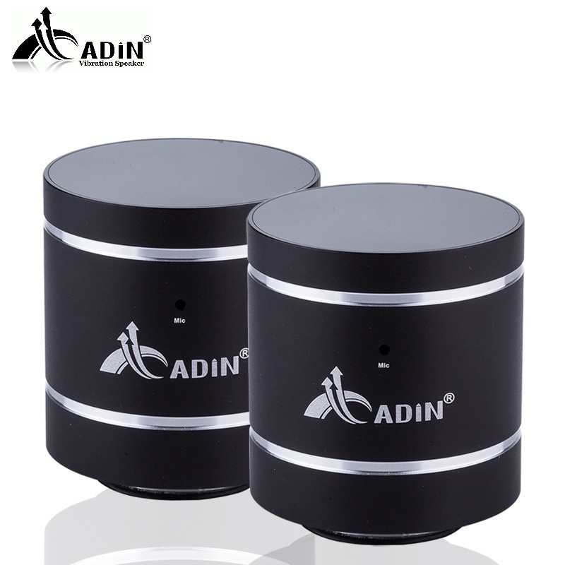 ADIN 1 Pair 20W Vibration Speakers HIFI Bluetooth Speakers Metal Phone Speaker Portable Vibration 3D Stereo Subwoofer NFC MIC цена
