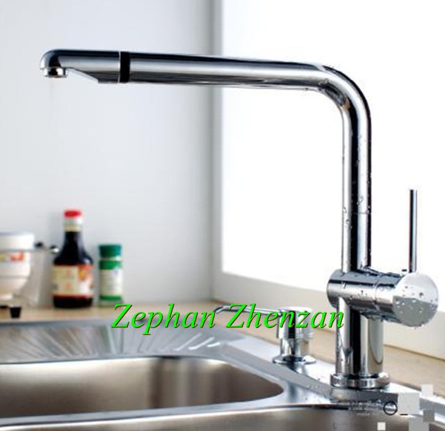gold supplier single handle swivel kitchen faucet mixure tap brass chrome sink faucet - Kitchen Sink Supplier