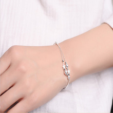 Mulheres de luxo Da Marca Pulseira 925 Única Estrela de Prata Charm Bracelet para Mulheres Pulseiras & Bangles