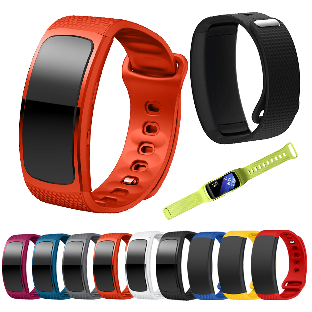 Replacement Bands for Fit2 Fit 2 Smart Watch Elastomer Strap Plastic Wristband for Samsung Gear Fit 2 SM-R360 Fitness Black Red gear fit2 watch band gear fit2 stainless steel bracelet strap replacement band wristband for samsung gear fit 2 sm r360