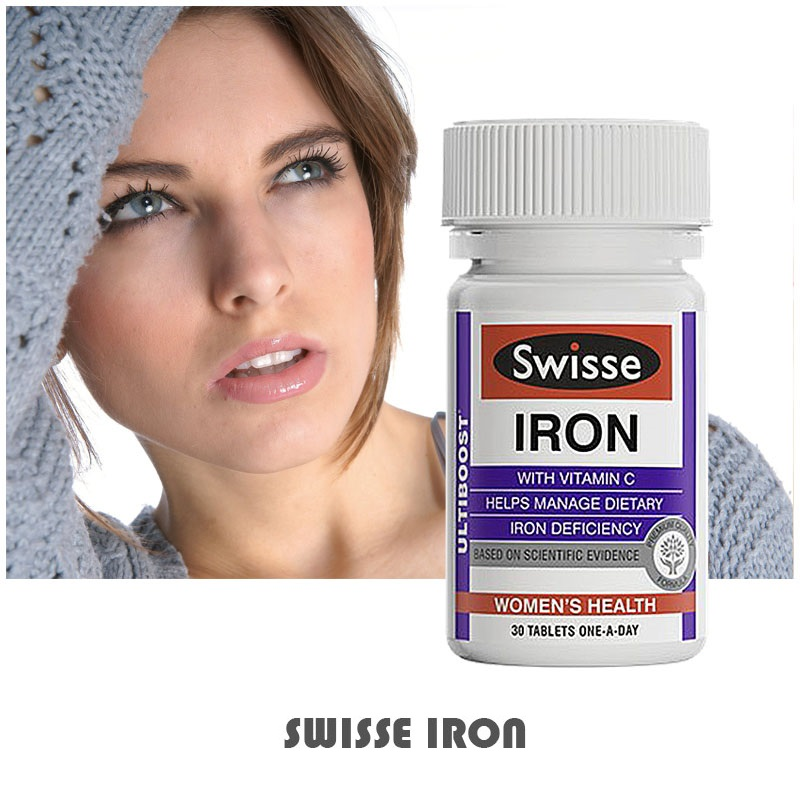 2PCS Australia Swisse Ultiboost Iron Supplement Management of Dietary Iron Deficiency suitable for Vegetarians During pregnancy image