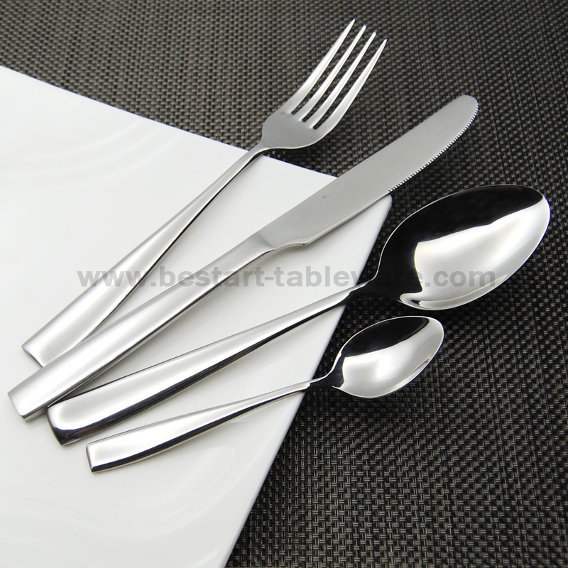 Eco friendly 18 0 stainless steel dinnerware set 20pcs mirror plish flatware set for 5 peoples