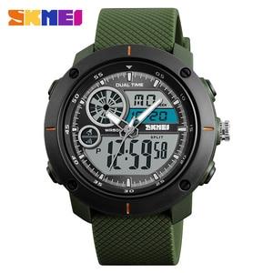 Image 3 - Skmei 새로운 야외 스포츠 시계 럭셔리 브랜드 디지털 쿼츠 시계 남자 방수 군사 육군 손목 시계 relogio masculino