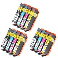 12Pack compatible printer ink cartridges for  655 cartridge Deskjet Ink Advantage 3525 4615 4625 5525 6520 6525