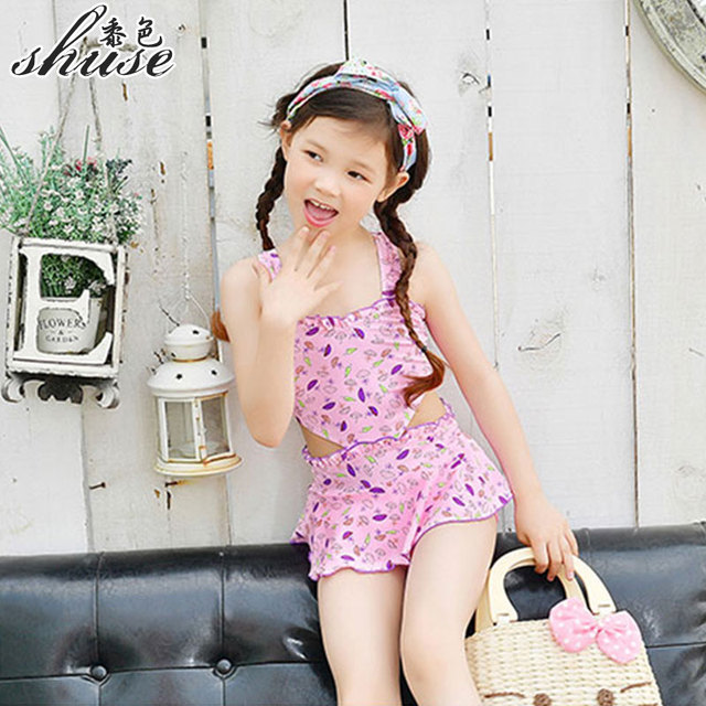 one piece swimsuit girl 2 12 year heart cut cute baby 39 s swimming suits one piece little girl 39 s. Black Bedroom Furniture Sets. Home Design Ideas
