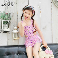 One Piece Swimsuit Girl 2 12 Year Heart Cut Cute Baby S Swimming Suits One Piece