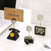 1 шт. деревянная папка для заметок с мультяшными картами, зажим для фото, зажим для карт, для сообщений, офисные принадлежности, для учебы, стола, для информации, зажим для фото