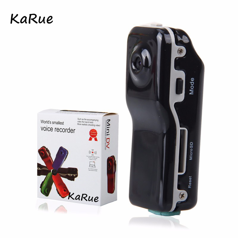 karue MD80 Mini DV Camcorder DVR Video Camera Webcam Support Max 32GB HD Cam Sports Helmet Camera Video Audio Recorder