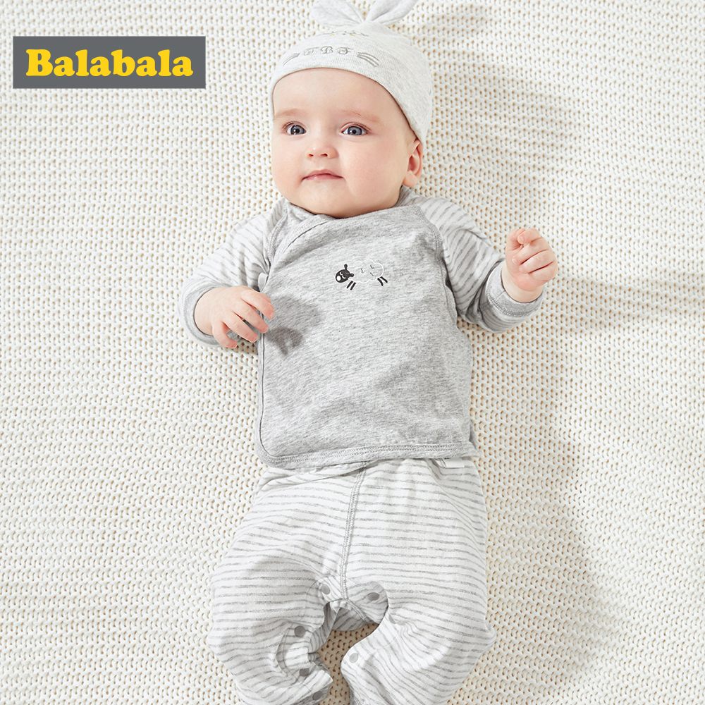 BalabalaBaby Pajamas Summer Children Clothing Set Home Baby Long Sleeve Suit 2019 New Baby Boy Clothes