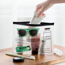 Fashion Travel kosmetyczka dla kobiet mężczyźni make up PVC toaletowe torby przezroczyste kosmetyczka makijaż torba Organizator Worki do mycia tanie tanio Futerały kosmetyczne Zamek 17 5 cm 0 5 cm Kreskówki Pole Casual W ZUOFILY