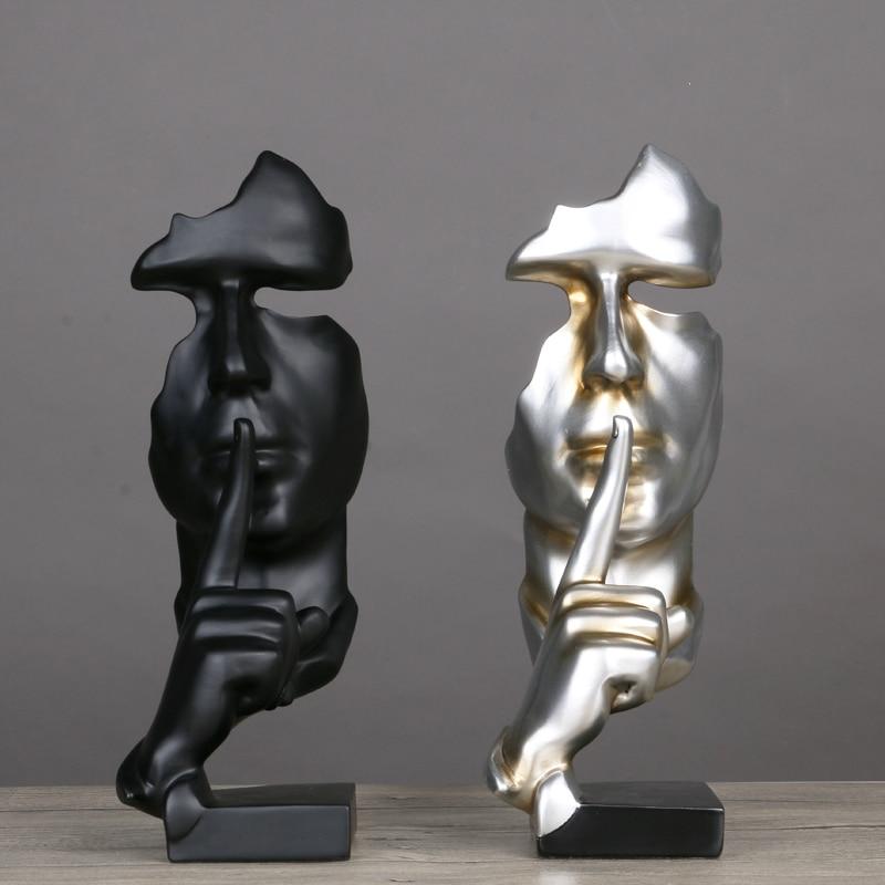 Ρητίνη Αφηρημένα Ειδώλια Τέχνης Διακοσμητικά Γλυπτά Χριστουγεννιάτικα Δώρα Ανθρώπινο Μοντέλο Πρόσωπο Με Χέρι Διακόσμηση Διακοσμημένο Σχήμα Πώληση