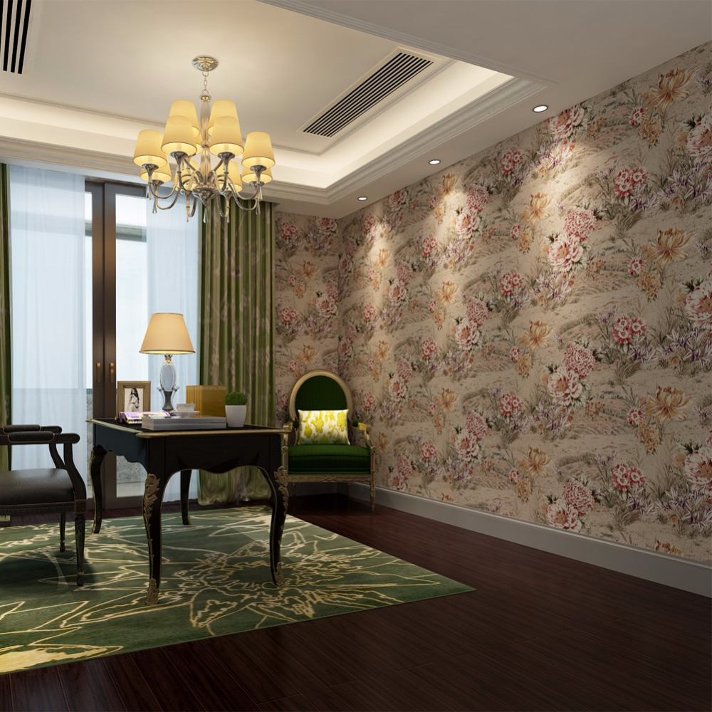 2016 floral design 3d embossed best home decor design wall murals wall coverings qz0287 053m10m eco friendly wallpaper