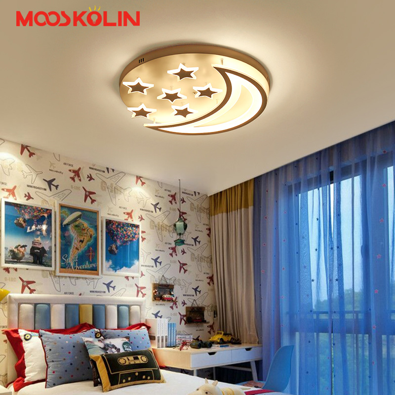 New Acrylic LED Ceiling Lights moon star shape for boy girl bedroom remote lights ceiling Decorative lampshade Lamparas de techoNew Acrylic LED Ceiling Lights moon star shape for boy girl bedroom remote lights ceiling Decorative lampshade Lamparas de techo