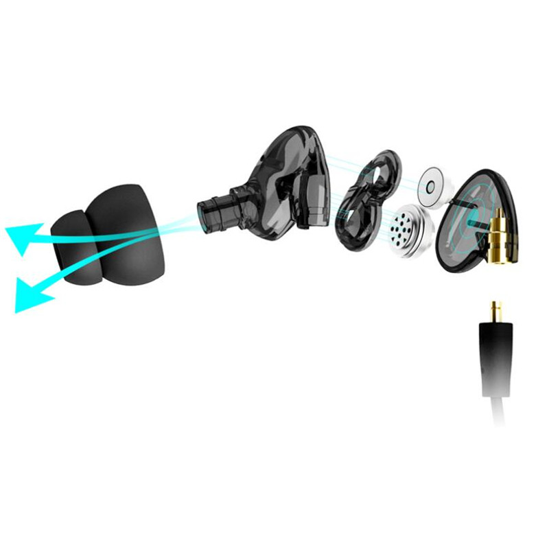 NAOI A8 In Ear Kopfhörer Noise Cancelling Stereo Wired Headset mit - Tragbares Audio und Video - Foto 3