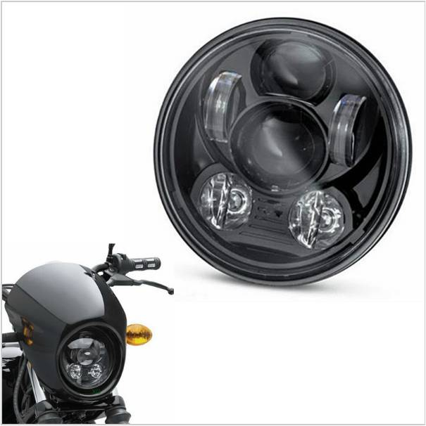 On sale ! 5.75 LED Headlight High Low Beam 5 3/4 Front Driving Head Lights Headlamp For Harleys Davidsons