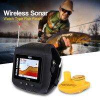 LUCKY FF518 Sonar Рыболокаторы Беспроводной Рыбалка сигнализации Fishfinder Портативный Водонепроницаемый часы Тип эхолот для рыбалки