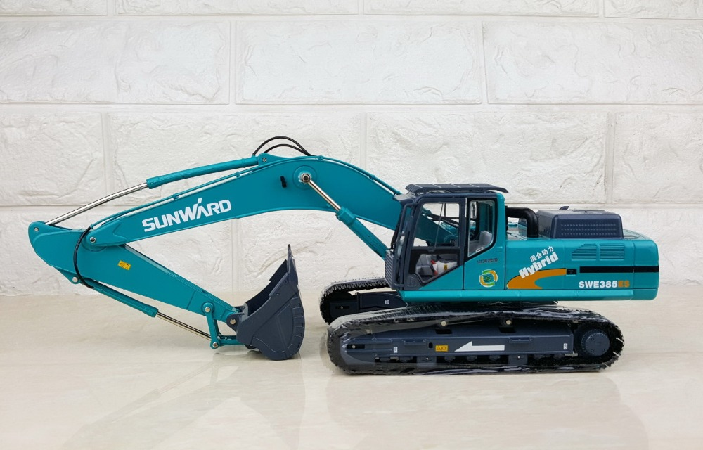Collectible Diecast Model Toy Gift 1:35 Scale SUNWARD SWE385ES Hydraulic Excavators Engineering Machinery Toy For Decoration