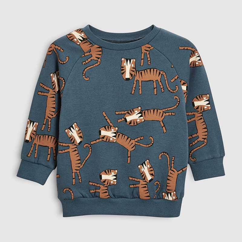 Sweatshirts Boy Children Hoodies Animal Fleece Autumn Little Maven Cotton Print C0173