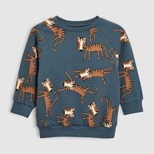 Little maven 2019 autumn boys brand clothes children Hoodies & Sweatshirts boy cotton animal print kids sweatshirts fleece C0173