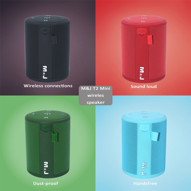 M&J T2 Mini Outdoor Waterproof Wireless Bluetooth Speaker Portable Bass Box  Column Series Connection Design for iPhone Samsung – Find awesome Stuff
