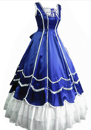 New SummerGothic <font><b>Lolita</b></font> <font><b>Dress</b></font> HalloweenVictorian Medieval <font><b>Dress</b></font> Southern Belle Costumes For Adult image