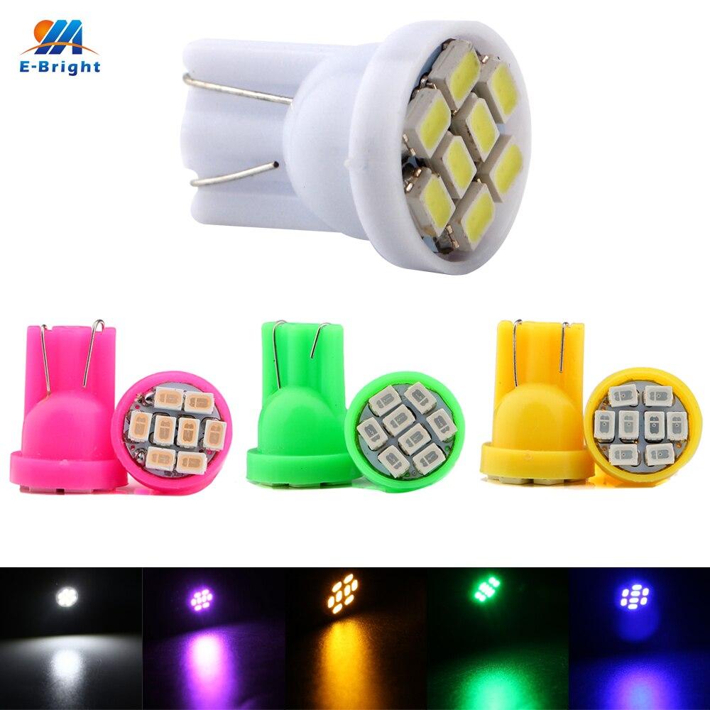 YM E Bright 500PCS T10 194 168 1206 8 SMD 8LED Parking LED light Bulbs Wedge