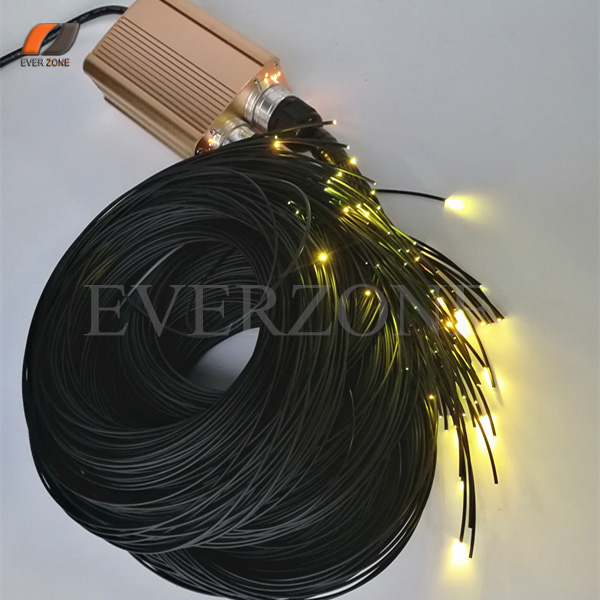 End Emitting Pointed Fiber Optic Light Strands 100pcs Length 2m Waterproof Optical Fiber Cable with RF