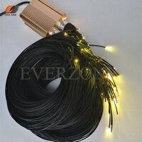 Fin Émettant Pointu Fiber Optique Lumière Brins 100 pcs Longueur 2 m Étanche Fiber Optique Câble avec RF Contrôleur