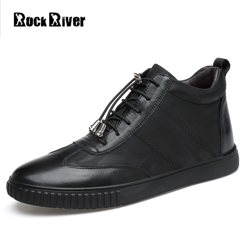 2018 New Spring Autumn Genuine Leather Shoes Men White Black Mens Shoes Casual Flats High-Top Men Shoes Moccasins Big Size 37-45 mens casual leather shoes hot sale spring autumn men fashion slip on genuine leather shoes man low top light flats sapatos hot