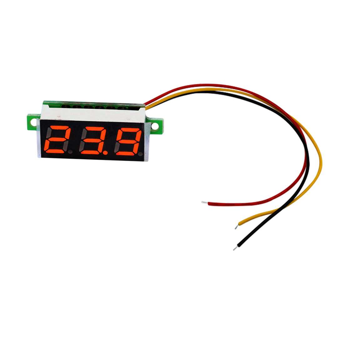 Mini 0.36 inch DC 0-100V 3 bits Digital Red LED Display Panel Voltage Meter Voltmeter Tester mini voltmeter tester digital voltage test battery dc 0 30v red blue green auto car