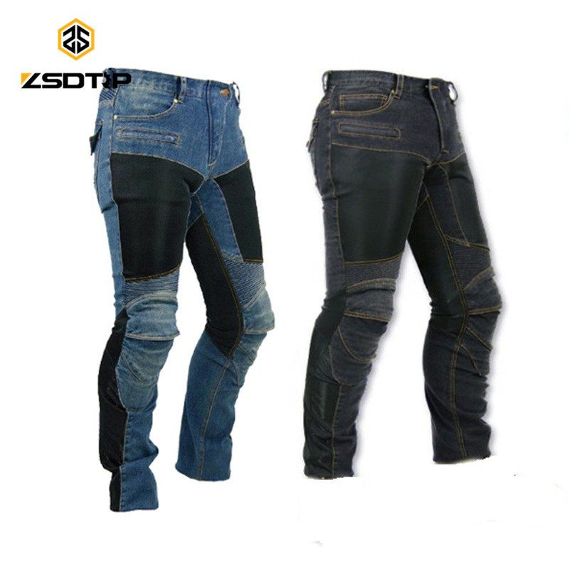 Explosion sale KO-MINE PK719 racing motorcycle riding jeans slim Biker pants off-road women trousers with kneepad